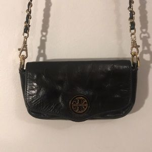 Tory Burch AUTH leather convertible clutch bag